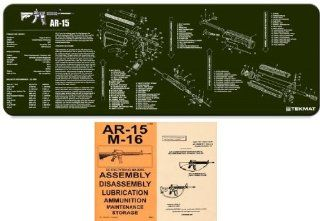 Ultimate Arms Gear OD Olive Drab Green Gunsmith & Armorer's Cleaning Work Tool Bench Gun Mat Assembly Disassembly For AR15 AR 15 AR 15 M4 M16 Rifle + .223 556 5.56 MM Machine Gun Technical Manual Book Official US Army Military Reproduction : Gunsmi