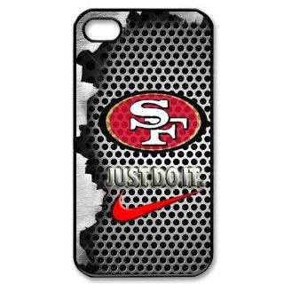 NFL San Francisco 49ers Logo Iphone 4/4S Case Nike Logo Case Cover black&white: Cell Phones & Accessories