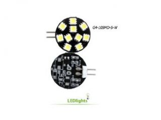 Disc Type G4 Base Side Pin 10 SMD LED, 10 Watt Halogen 145 Lumen Bulb Replacemnt For RV Camper Trailer Boat Marine Warm White   Black Light Bulbs