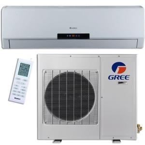GREE Premium Efficiency 30,000 BTU (2.5Ton) Ductless (Duct Free) Mini Split Air Conditioner   Inverter, Heat, Remote 208 230V GWH30LB D3DNA3E