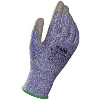 "MAPA Krytech 586 Polyurethane Heavy Duty Glove, Cut Resistant, 9 3/4"" Length, Size 10, Gray Cut Resistant Safety Gloves Industrial & Scientific"