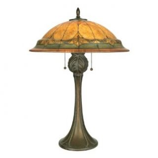 Quoizel Table Lamp Reverse Painted Glass Shade Q568T