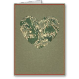 Air Force Camo Valentine Hearts   Valentine's Day Greeting Cards