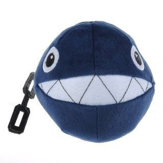 """Super Mario Brothers Chain Chomp Plush Toy Doll Blue 5"""" Toys & Games"""