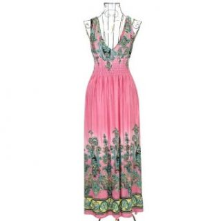 Zicac 2013 Fashion Evening Summer Dresses Sexy Clothes Women Long Maxi Dress Flexible One Size Fit For S XL US 2 8 (Pink) at  Women�s Clothing store