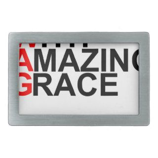 Saved With Amazing Grace (SWAG).png Rectangular Belt Buckles