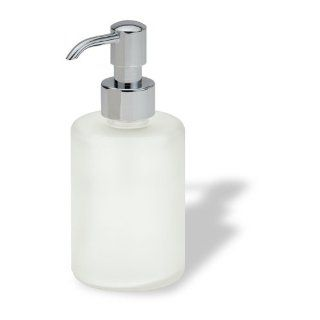 StilHaus Round Colored Frosted Glass Soap Dispenser 580   Countertop Soap Dispensers