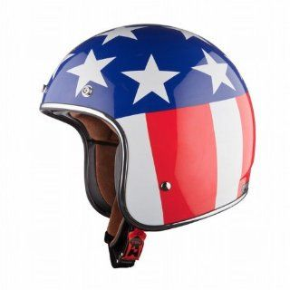 LS2 OF583 Bobber Easy Rider Open Face Helmet (Red/White/Blue, Medium): Automotive