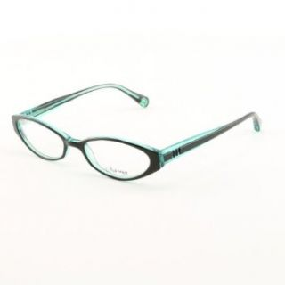 LOREE RODKIN DEMI Eyeglasses Color BKTD Black and Teal HIGH FASHION SAMA NWT: Loree Rodkin: Clothing