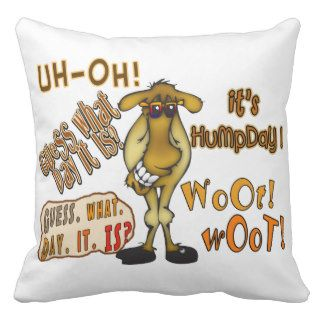 Hump Day Camel Pillow