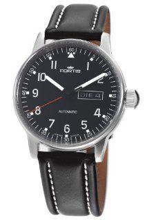 Fortis Men's 595.22.41L Pilot Professional Automatic Black Dial Watch Watches