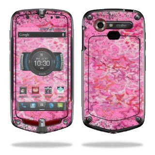 MightySkins Protective Vinyl Skin Decal Cover for Casio G'zOne Commando 4G LTE C811 GZ1 Verizon Cell Phone Sticker Skins Pink Star: Cell Phones & Accessories