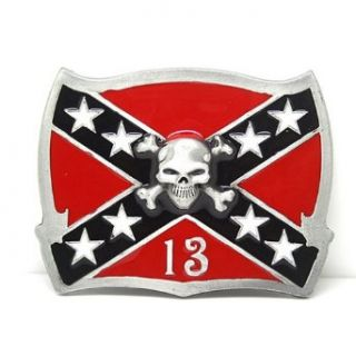 Little Hand Mens Confederate Flag Lucky 13 Skull Belt Buckle at  Men�s Clothing store: Apparel Belts