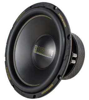 """Brand New Quantum Audio QAW12D4 12"""" 2500 Watt Peak / 625 Watt RMS Dual 4 Ohm Car Sub Subwoofer with Black Electro Plated Finished Top and Bottom Plate  Vehicle Subwoofer Systems"""