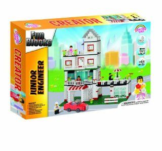 Fun Blocks (Compatible with Lego) City Diorama (B) Dream Home (629 Pieces): Toys & Games
