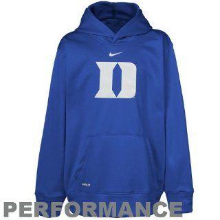 Duke University Stores  Nike Duke Blue Devils Youth Printed Performance Hoodie   Royal Blue  Sports Fan Sweatshirts  Sports & Outdoors