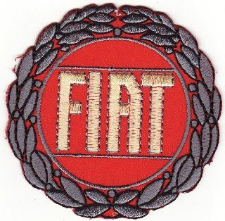 "Fiat 3"" Round On Car patch Iron on Sew Applique Embroidered patches"