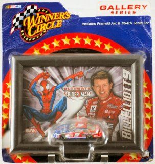 2002   Action / Winner's Circle   Marvel / NASCAR   Gallery Series   Bill Elliott #9   Dodge / Ultimate Spiderman Framed Art & 1:64 Scale Die Cast Car   MOC   Out of Production   Limited Edition   Collectible: Toys & Games