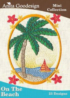 Anita Goodesign ~ On The Beach ~ Embroidery Designs CD