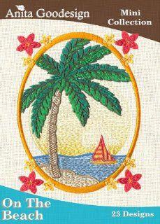 Anita Goodesign ~ On The Beach ~ Embroidery Designs CD