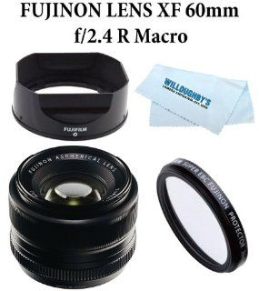 FUJINON LENS XF 60mm f/2.4 R Macro Lens + Fujifilm Camera Lens Filter PRF 39 Protector Filter (39mm) + Lens Pen Cleaning System + Lens Dust Blower + MicroFiber Cleaning Cloth  Digital Camera Accessory Kits  Camera & Photo