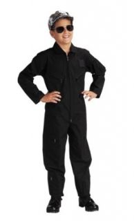 Kid's Black Air Force Type Flightsuit   in your choice of size Clothing