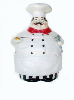 Fat Italian Chef Ceramic Cookie jar, Canister Kitchen & Dining