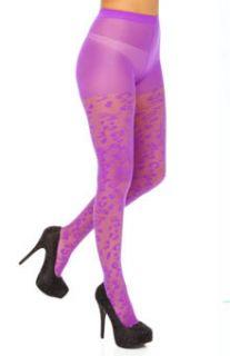 Betsey Johnson Hosiery 60612 Leopard Love Sheer Tight