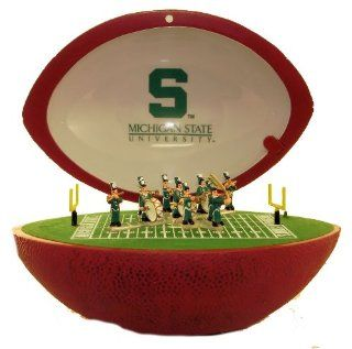 "University Classics Pigskin Marching Band   Officially Licensed Michigan State, Plays ""Fight Song""   Jewelry Music Boxes"