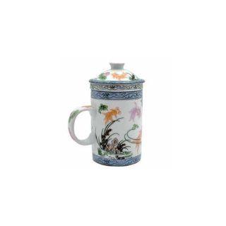 Porcelain Tea Cup   Strainer   Nature   Fish   Teacups