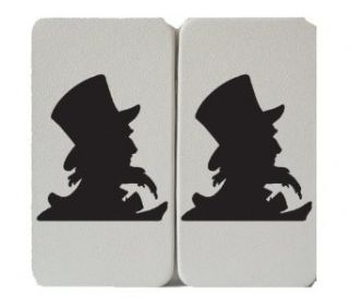 Uncle Sam Silhouette   Retro Clipart Illustration   Taiga Hinge Wallet Clutch: Clothing
