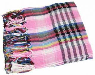 Pink Multicolor Keffiyeh Arab Head Scarf Shemagh Clothing