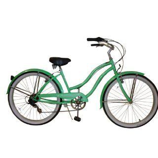 "Micargi Pantera 7 Speed 26"" Women's Beach Cruiser Bicycle   Green  Sports & Outdoors"