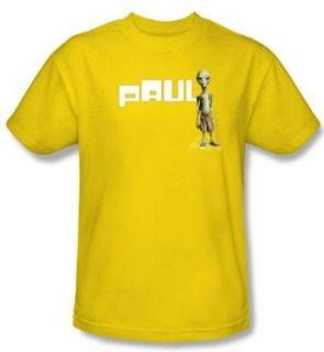 Paul T shirt Movie Alien Logo Adult Yellow Tee Shirt: Clothing