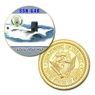 U.S Navy USS Aspro (SSN 648) printed Challenge coin