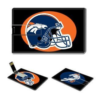 16GB USB Flash Drive USB 2.0 Memory Stick Sports NFL Denver Broncos Logo Credit Card Size Customized Support Services Ready National Football League Super Bowl team playoffs MVP champion player Peyton Manning Brett Favre (Black) Computers & Accessorie