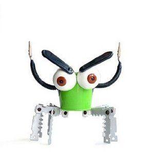 City Block Metal Big Eyes Robot Plant Pot Toys Flowerpot/Green  Planters  Patio, Lawn & Garden