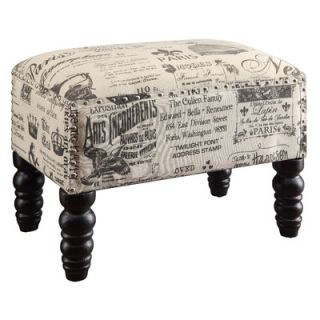 Crestview French Script Accent Stool