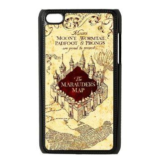 Harry Potter Marauder's vintage Map, in Durable plastic Personalized Wheel Hard Case for IPod Touch 4: Cell Phones & Accessories