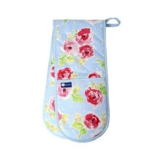 Rushbrookes Pink Floral, Double Oven Glove ( 86x18 ) Kitchen & Dining