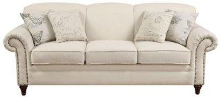 Norah Antique Inspired Linen Sofa with Nail Head Trim by Coaster   Furniture