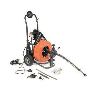 "General Wire Electric Floor Model Machine W/ Power Feed, 100'X3/4"" Cable & Cutter Set, Ps 92 C   Drain Augers"