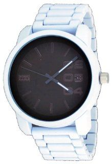 Mark Naimer #MN2025 Men's Jumbo Oversize Silicone Wrapped Metal Band White Domination Watch Watches