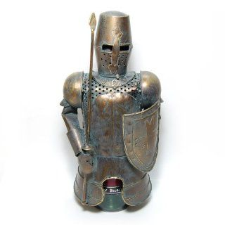"""Metal Medieval Knight Armor with Spear Bottle Cover, Wine Holder, 12"""" Tall  Other Products"""