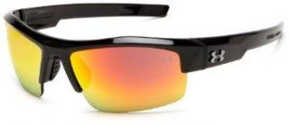 Under Armour Igniter Sunglasses, Shiny Black Frame/Gray, Orange & Multi Lens, One Size Clothing