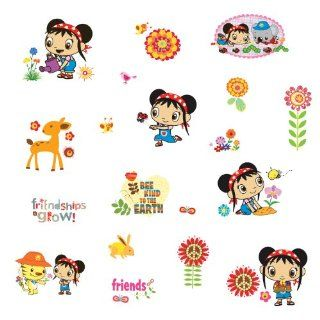 RoomMates RMK1653SCS Kai Lan Peel and Stick Wall Decals   Decorative Wall Appliques