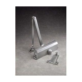 Norton 1601H 689 Hold Open Door Closer Adjustable Sizes 3 6, Aluminum Finish