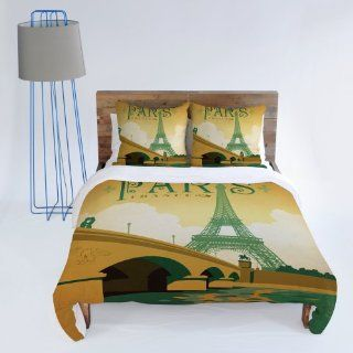 DENY Designs Anderson Design Group Paris Duvet Cover, Twin   Paris Bedding Full