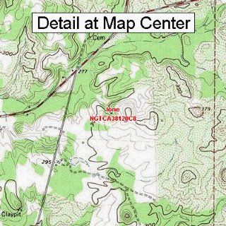 USGS Topographic Quadrangle Map   Ione, California (Folded/Waterproof)  Outdoor Recreation Topographic Maps  Sports & Outdoors