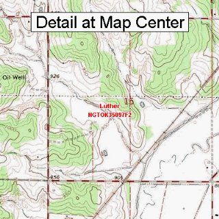 USGS Topographic Quadrangle Map   Luther, Oklahoma (Folded/Waterproof)  Outdoor Recreation Topographic Maps  Sports & Outdoors